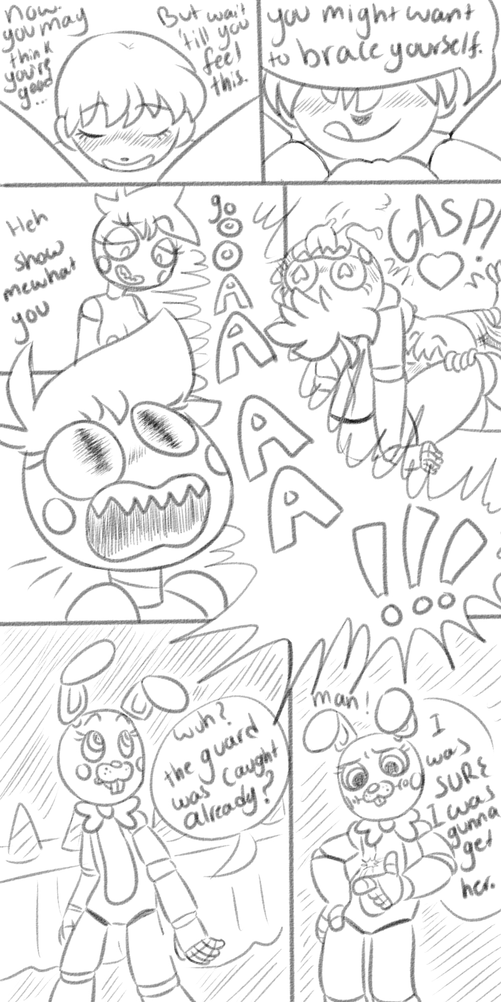 mangle toy sex chica x A sex goblin with a carnival penis