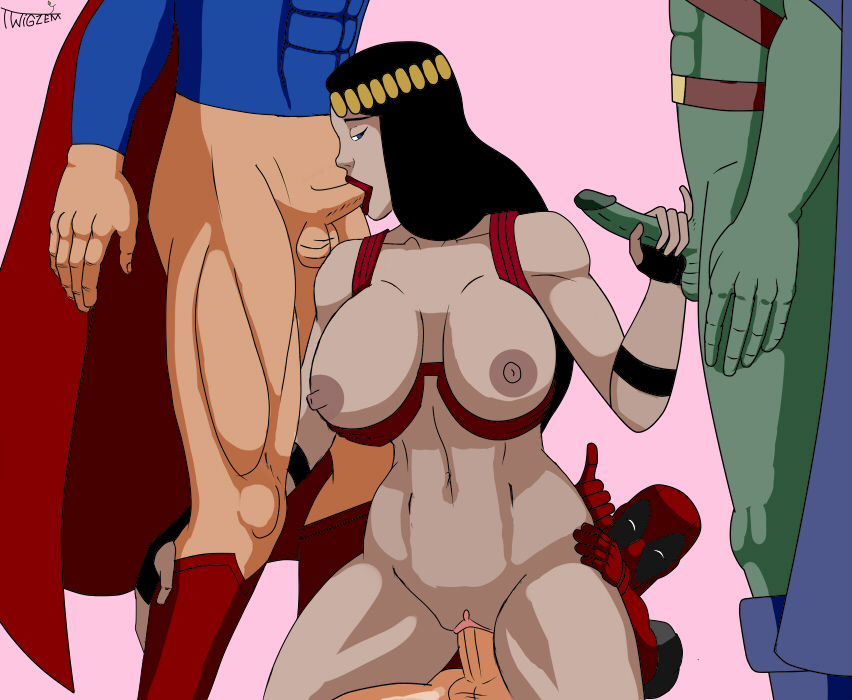 and justice league gods monsters tina Panty stocking and garter belt
